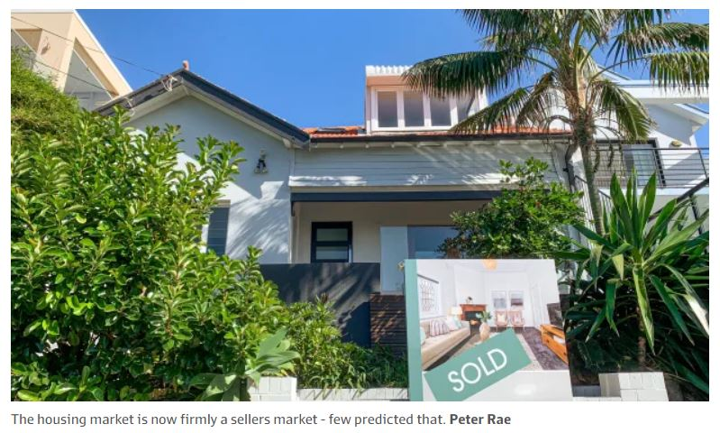 Housing Market Now A Sellers Market - A few Predicted That Sydney Financial Advice Business